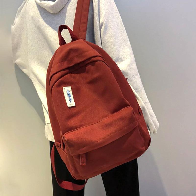 JOYPESSIE Fashion Women Backpack For School Teenagers Black School Bag Female Bookbag Mochila Girl Canvas Backpack School Bag