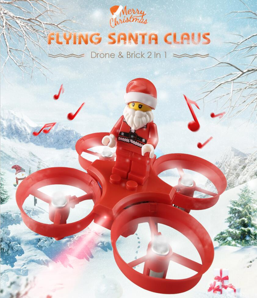 Chrismass kids toy H-67 Flying Santa Claus mini RC Drone 2.4G anti-fall Song Playing Headless 3D roll RC quadcopter toy vs H36