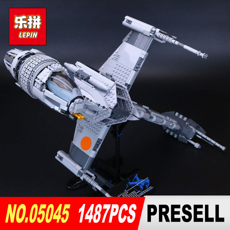 Lepin 05045 Star 1487Pcs classic Wars Genuine The B-wing Starfighter Building Blocks Bricks Educational Toys model legoed 10227 lepin 05040 star wars y wing attack starfighter model building kits blocks brick toys compatiable with lego kid gift set