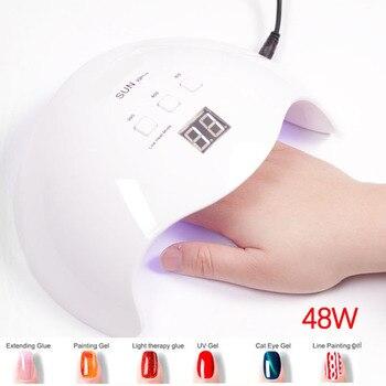 Lamba jel oje Kurutma için Güneş 48 w/80 w jel cila lambası Tüm Jeller Oje tedavi Makinesi otomatik sensör Salon tırnak sanat
