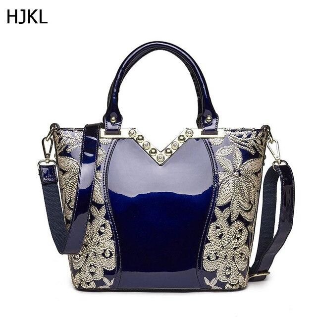 9b5a06bb79 2018 Patent Genuine Leather Handbags for Women Diamond Sequin Handbag Party Shoulder  Bags Female Shinny Bridal Tote Bag C143