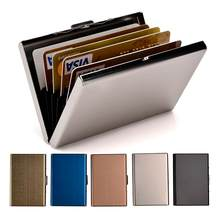 Credit Card Holder Stainless Steel Business Card Case for Men and Women RFID Metal ID Card Holder Wallet(China)