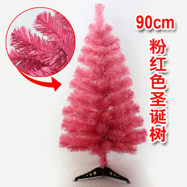 Christmas 90cm Pink Tree Small Desk Multicolour