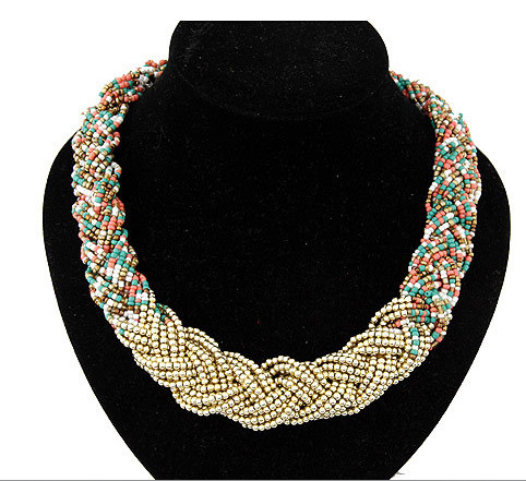 32878e5a8efa Collares Colgantes mujeres declaración vintage collar Bohemia bead gargantilla  collar Cuentas colgante para la boda del regalo del partido
