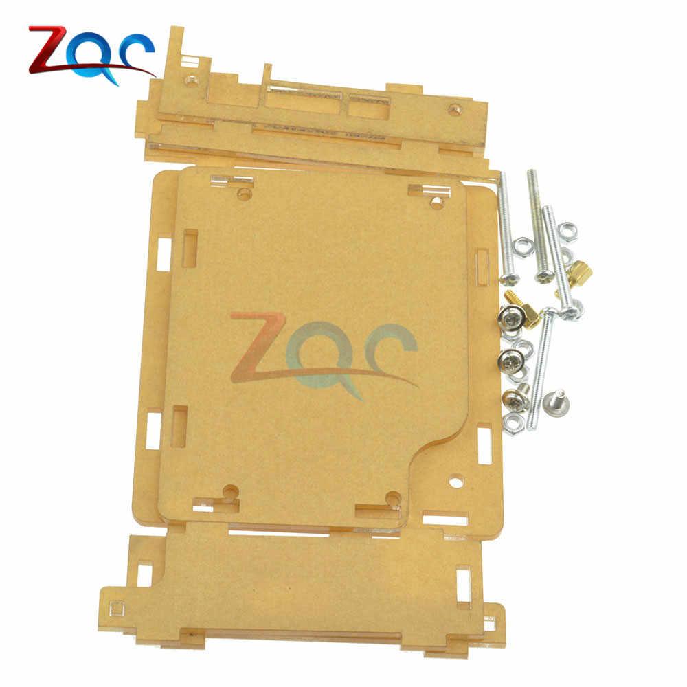 Akrilik Shell Case untuk Induktor Kapasitor ESR Meter MG328 M328 Multifungsi Transistor Tester