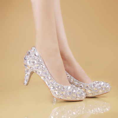 a47d2ad35df Cinderella Rhinestone Pumps – Grab Your Shoe