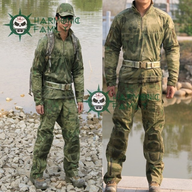 NEW type Camouflage Tactical Military Special Force Combat Uniform A TACS FG Combat Suit Pants CS