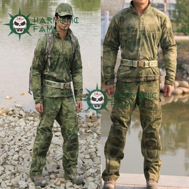 새로운 유형 위장 전술 군사 특수 부대 전투 유니폼 A TACS fg 전투 정장 & 바지 cs 파티 용품-에서파티 DIY 장식품부터 홈 & 가든 의  그룹 1
