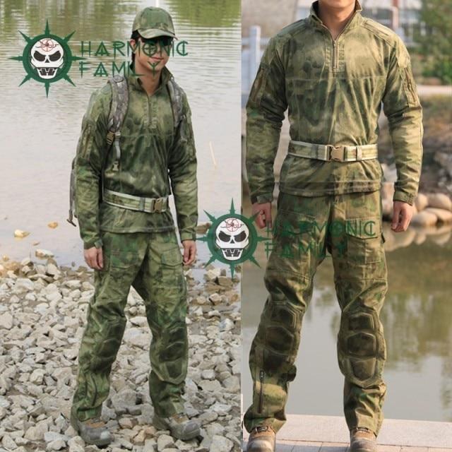 Nowy typ kamuflaż taktyczne wojskowe sił specjalnych umundurowanie bojowe A TACS FG bojowy garnitur i spodnie CS zaopatrzenie firm w Dekoracje imprezowe DIY od Dom i ogród na  Grupa 1
