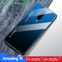 KISSCASE Gradient Tempered Glass Phone Case For Oneplus 7 pro Oneplus 7 6 Cover Phone Case for Oneplus 7 proO 7 Cover Fundas