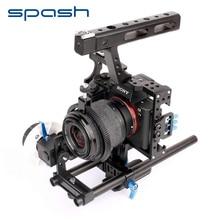 spash 15mm Rod Rig DSLR Camera Video Cage Kit Top Handle Gri