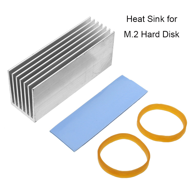 Wholesale 70*22*30mm Aluminum Heatsink Cooling Heat Dissipation M.2 Solid State Hard Drive Radiator for M.2 NVMe SSD jeyi seashark 2 two heat sink heatsink nvme ngff m 2 u 2 dust cover aluminum sheet thermal conductivity silicon wafer cooling ag