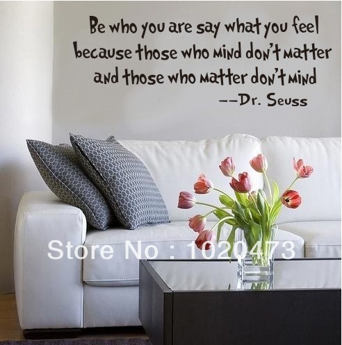 Dr.Seussu0027s   Be Who You Are! Wall Decal Quotes/Removable Letter