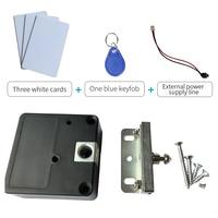 125khz Rfid Keyless Hidden Locker Cabinet Lock Private Card Lock Castle Black Electronic Invisible Digital Cabinet