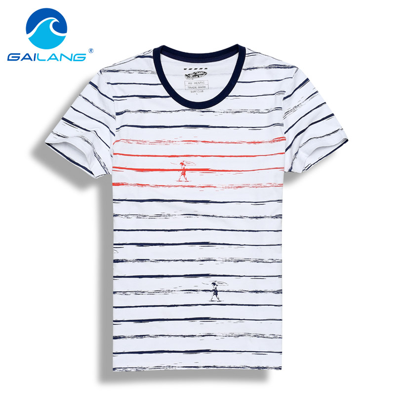 Gailang brand 2017 summer men t shirt cotton mens tshirt for Print one t shirt