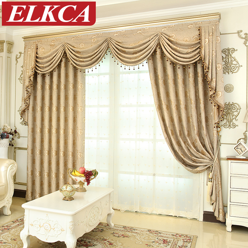 European Luxury Window Curtains For Living Room Bedroom