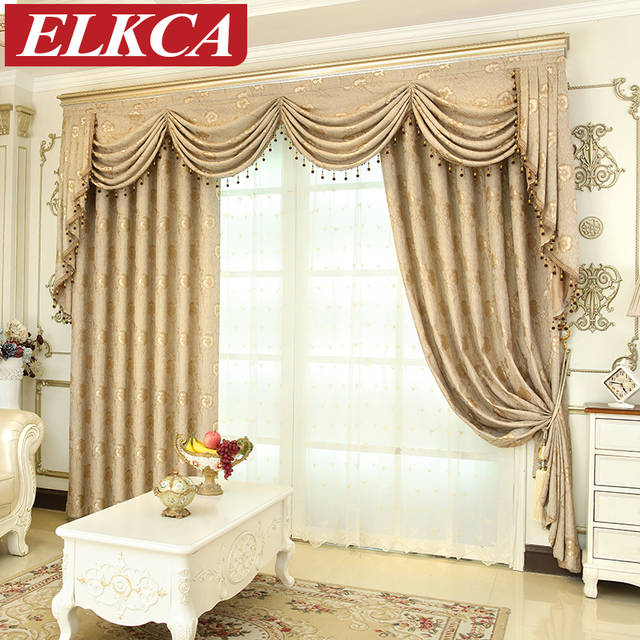 US $13.44 44% OFF|European Luxury Window Curtains for Living Room Bedroom  Thick Jacqurd Curtains for Bedroom Window Treatment Drapes Custom Made-in  ...