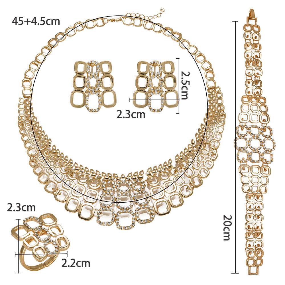 BAUS 2018 big Nigerianischen schmuck sets dubai gold Farbe schmuck set Großhandel braut perle hochzeit Schmuck-set Frauen kostüm design
