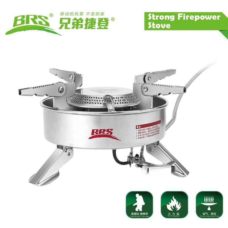 BRS-10 Outdoor Camping Portable Gas Burner Strong Power Blaze Split-Type Butane Stove Stainless Steel Picnic BBQ Gas Stove outdoor portable ultra mini stainless steel gas stove with a case