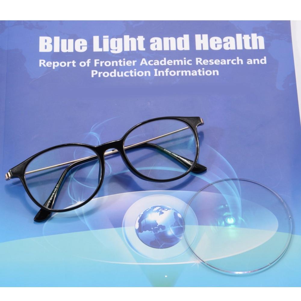 Moda TR90 Gafas de lectura con montura azul Filtro de luz azul - Accesorios para la ropa - foto 3