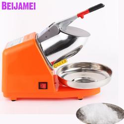 BEIJAMEI 2020 Electric Ice crusher shaver household snow cone ice block making machine commercial ice sand maker