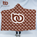 BeddingOutlet Print on Demand Hooded Blanket for Adult Kid Custom Made Customized DIY Wrap Sherpa Throw Blanket POD Dropshipping