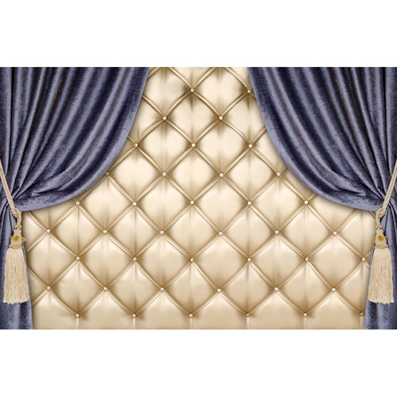 Baroque Bed Headboard Tufted Bed Photography Backdrop Thin
