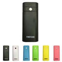 18650 Mini Battery Bank Case Cellphone Plastic Power Bank Box DIY Battery Backup Charger LED Light
