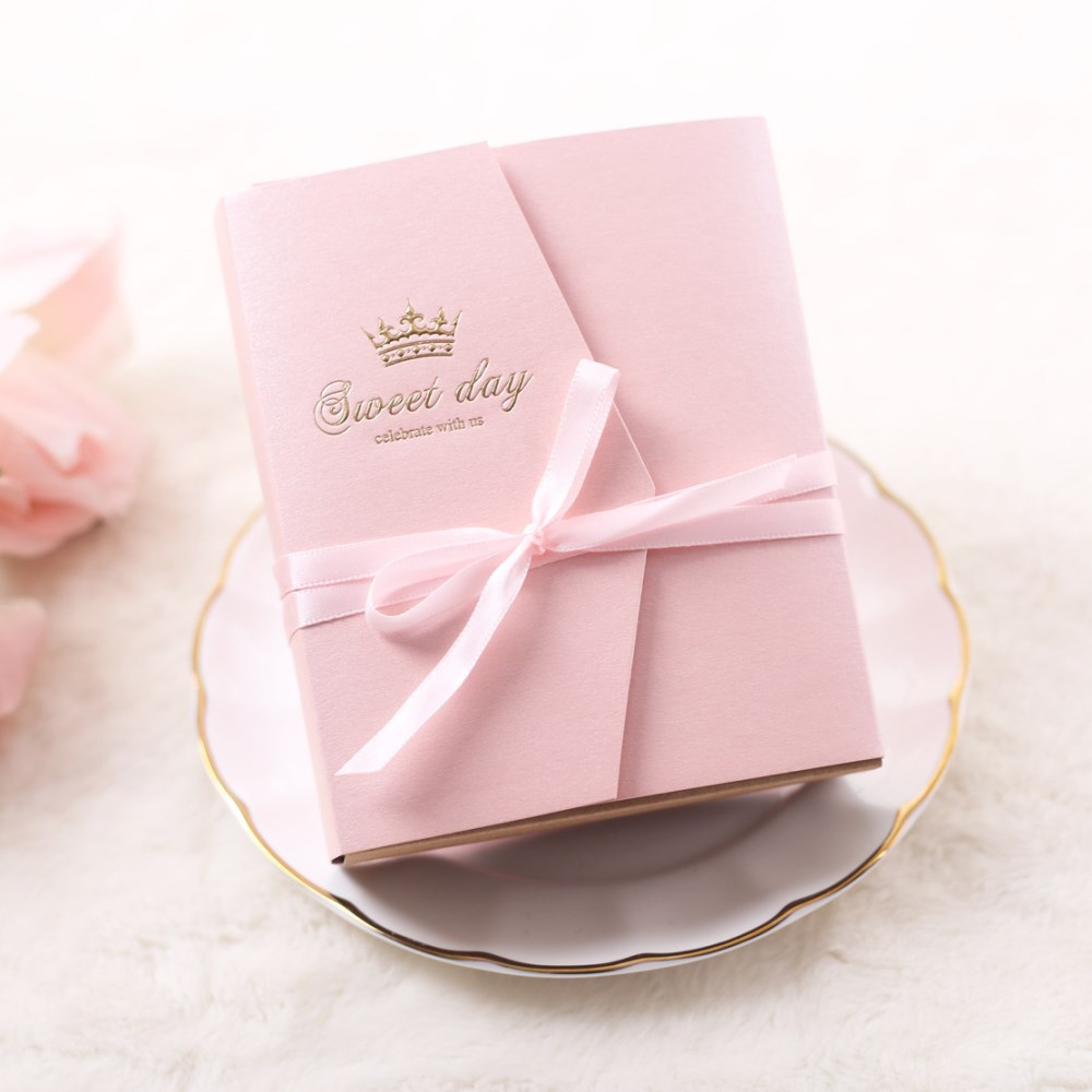 50pcs Sweet Day Wedding Favor Box Exquisite Cartoon Drawer Gift ...