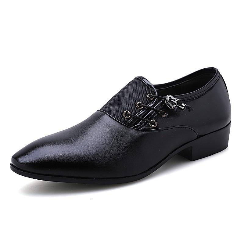 En Qx5 Oxford La brown Appartements Pointu De 38 Up Bout Lace Cuir D'affaires Black Hommes 48 Taille Formelle Split Pour Robe Plus Chaussures tPqaxBa