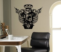 New arrival Engine Motor Wall Decal Auto Machine Vinyl Sticker Home Interior Garage Decor Removable Decor Wall Art Custom Decals