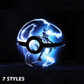 Hy novas arrivels 7 estilos pokemon 3d bola de cristal 7 cores Rotação Monstro de Bolso 3D LED Night Light Table Desk lâmpada