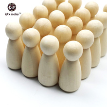 100pc/lot girls Peg Dolls 1.35 Solid Hardwood Natural Unfinished Turnings-Ready for Paint or Stain-Waldorf Wooden People