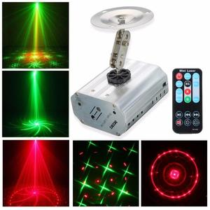 Image 3 - Voice Control Music Rhythm Flash Light LED Laser Projector Stage DJ Disco Light Club Dancing Party LightS Stage Effect Lighting