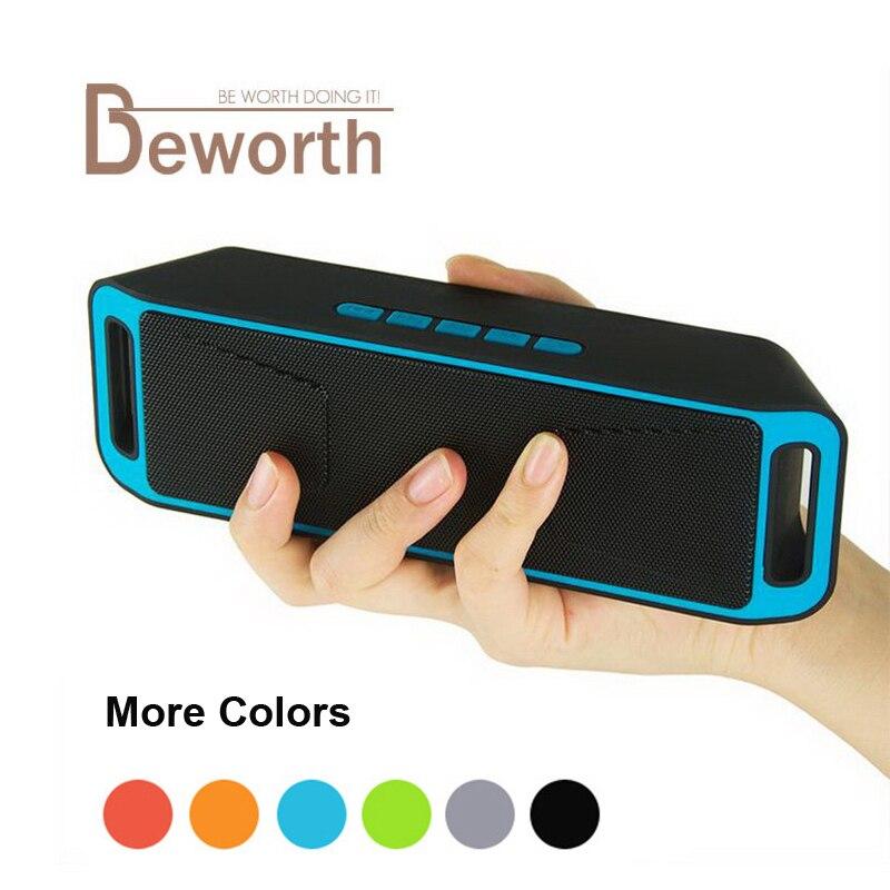 Sc208 <font><b>Bluetooth</b></font> Динамик Беспроводной стерео Altavoz двойной бас звучания плеера Колонки Поддержка Handfree FM TF для телефонов