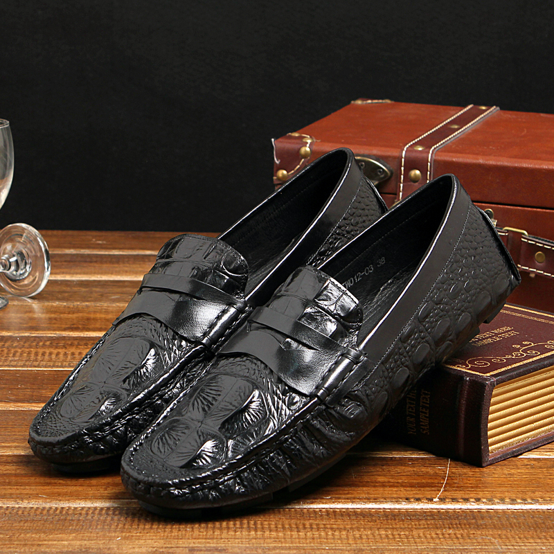 ФОТО 2017 men's fashion casual style men's loafer shoes genuine leather gommin driving tassels decoration round toe EU38-44 Gommin