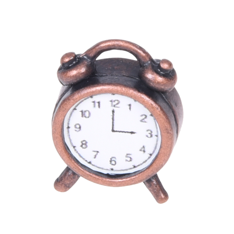 New 1/12 Dollhouse dolls Miniature Alarm Clock toys