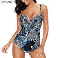 JOYMODE Sexy Bikini Muje Floral Push Up 2018 Bikini Una Pieza Bathing Suit Women Plus Size