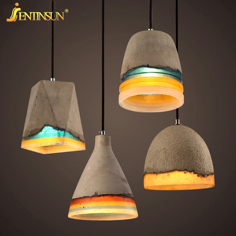 Industrial Retro Restaurant Bar Cement Resin Pendant Light New Hot Haning Lamp for Cafe Corridor Aisle LED Indoor Cement Lamp eiceo nordic ancient art cement resin creative pendant lamp minimalist retro cement lampshade for indoor cafe bars decor light