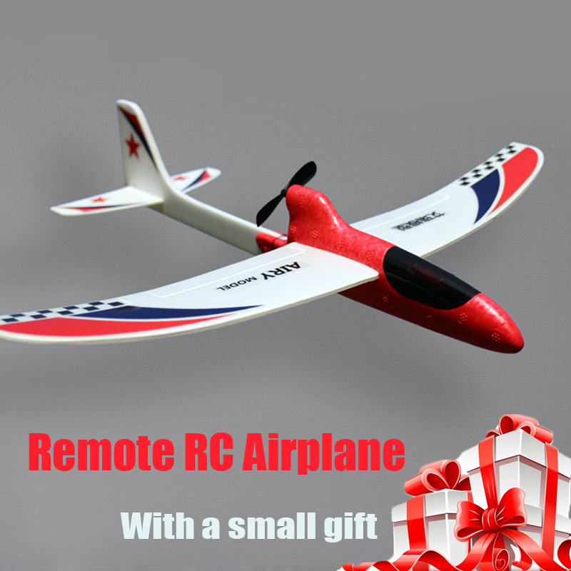 Newest DIY Glider Foam RC Drone Capacitor Hand Throwing Electric Plane Resistance to falling Toys for Children Birthday Gift image