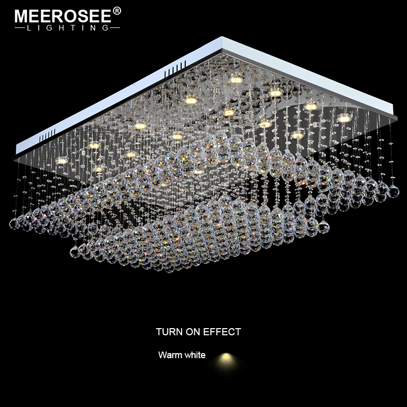 Good K9 Crystal Chandelier Light Fixture Rain Drop Rectangle Clear Crystal Ceiling Lustre de cristal for household Hotel Deco vacuum cleaner dc04 hepa filter motor filter replacement for dyson dc05 dc08 dc19 dc20
