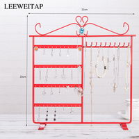 Iron shelves, jewelry storage,33cm Earring 48 Hole for Jewelry Jewelry display stand Dressing table