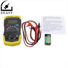 XC6013L Digital LCD Display Capacitor Capacitance Meter Tester mF uF Circuit Gauge with Test Lead Line & Battery(China)