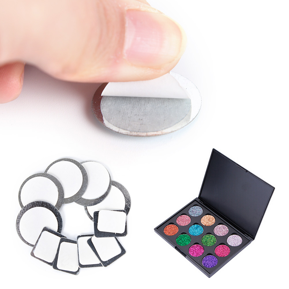 20X Round Rectangle Magnetic Eyeshadow Palette Tightly Metal Stickers For Eyeshadow To Hold