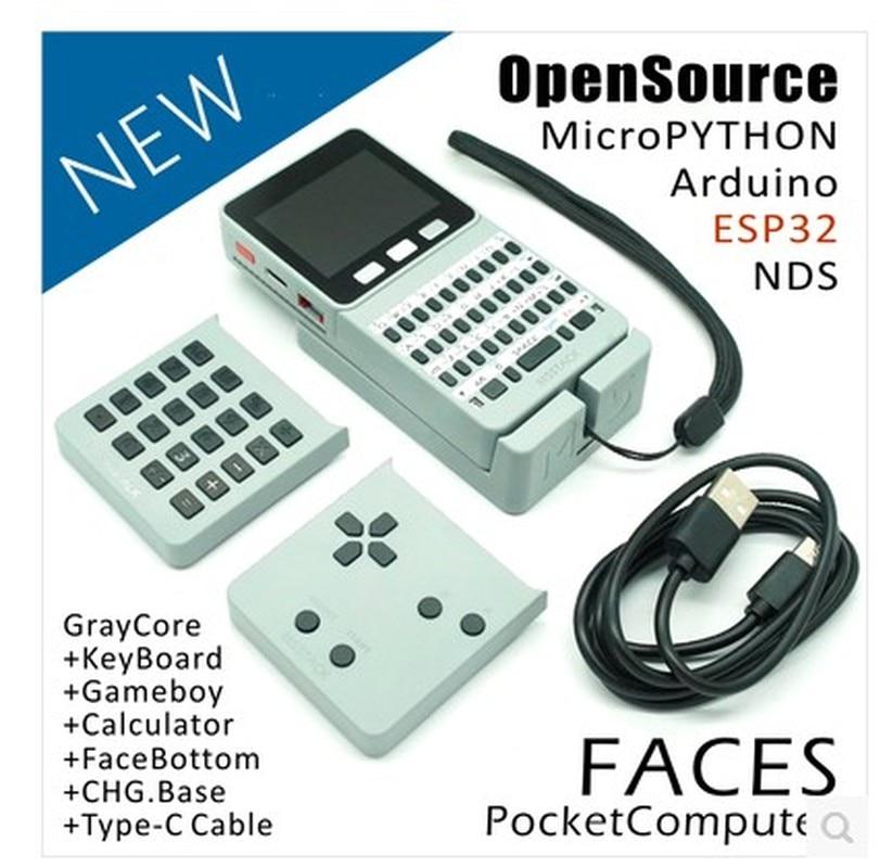 1 set ESP32 Open Source visages poche ordinateur visages Collection avec clavier/Gameboy/calculatrice pour Micropython Arduino # Hbm0103