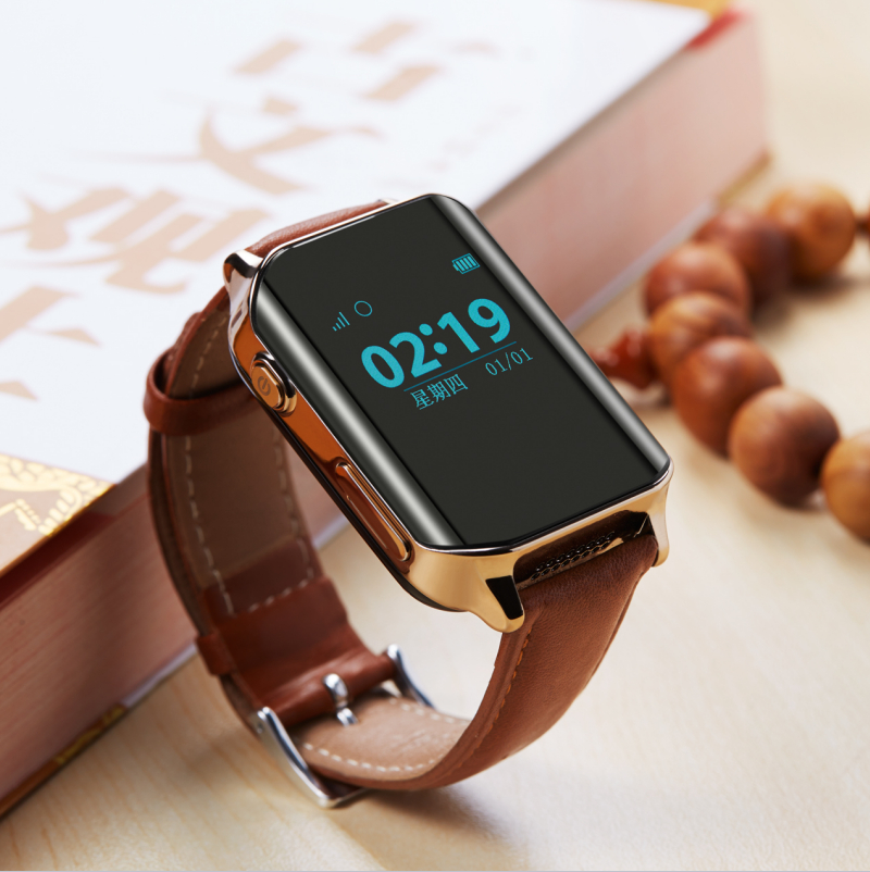 цена Leather Strap SmartWatch GPS Tracker Smart GPS Watch Locator For Elder locating Heart Rate Monitor Wristwatch Support SIM Card