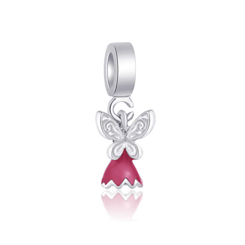Btuamb חדש אופנה לוקסוס לב קשת פרח כוכב מדומה פנינה דבורה קסמי חרוזים Fit פנדורה שרשראות לנשים DIY תכשיטים