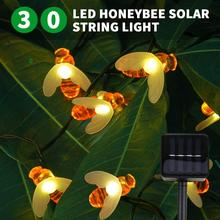 Solar String Lights, 30 LED Honey Bee Waterproof Decorative Lights for Patio, Garden, Gate, Yard, Party
