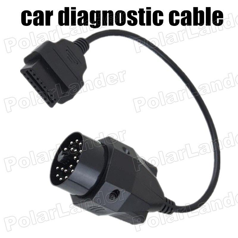 Prix pour 1 PC OBDII OBD2 OBD Ronde De Diagnostic Connecteur Câble Scanner Adaptateur Outil fit pour BMW E36 E39 X5 Z3