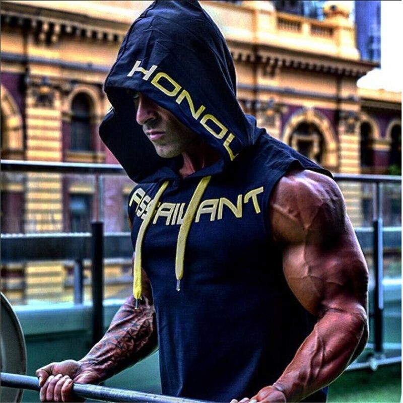 Fitness bodybuilding Tank Top Hoodie 5